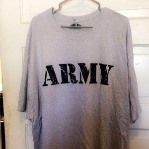 Gray 3X Army tee shirt